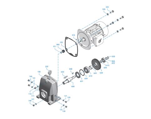 Motoréducteur pièces détachée - ABS Montaigu
